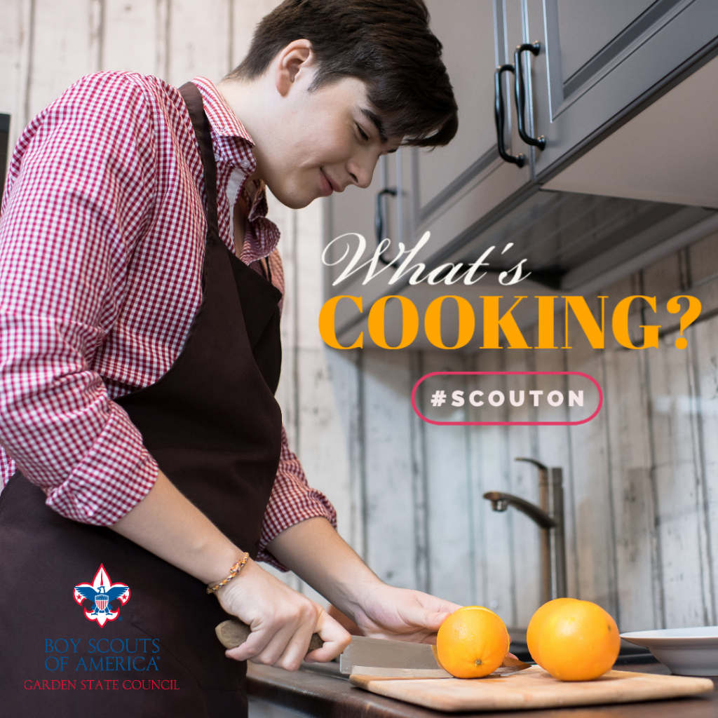 Cooking is a key part of the Scouting program