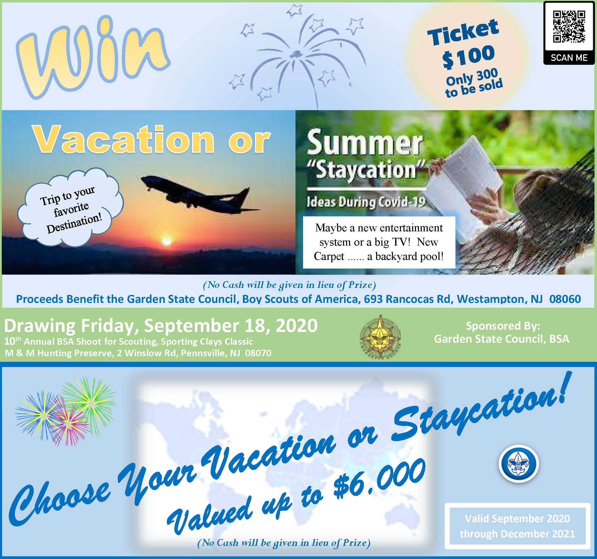 2020 GSC Vacation or Staycation Raffle Flyer