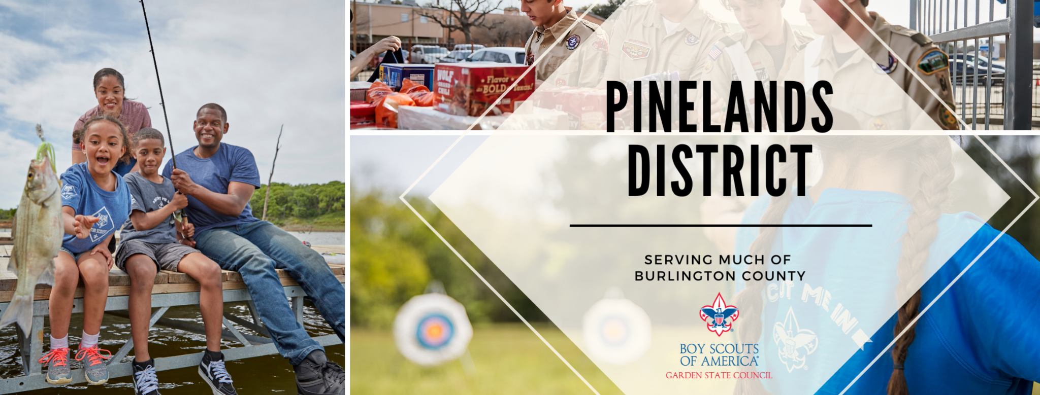 Pinelands District, Garden State Council, BSA serves a youth in Scouting throughout Burlington County, New Jersey