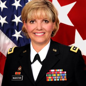 Lieutenant General Patricia E McQuistion, US Army, Retired