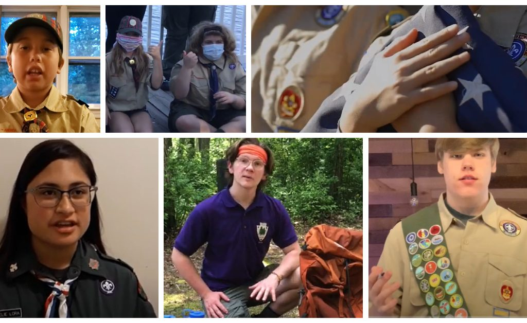 Scout-A-Thon 2020 collage of video stills showcasing Scout-led programming