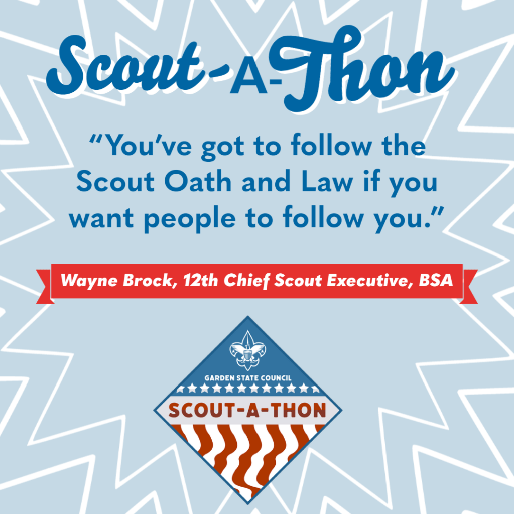 Scout-A-Thon statement on leadership from Wayne Brock