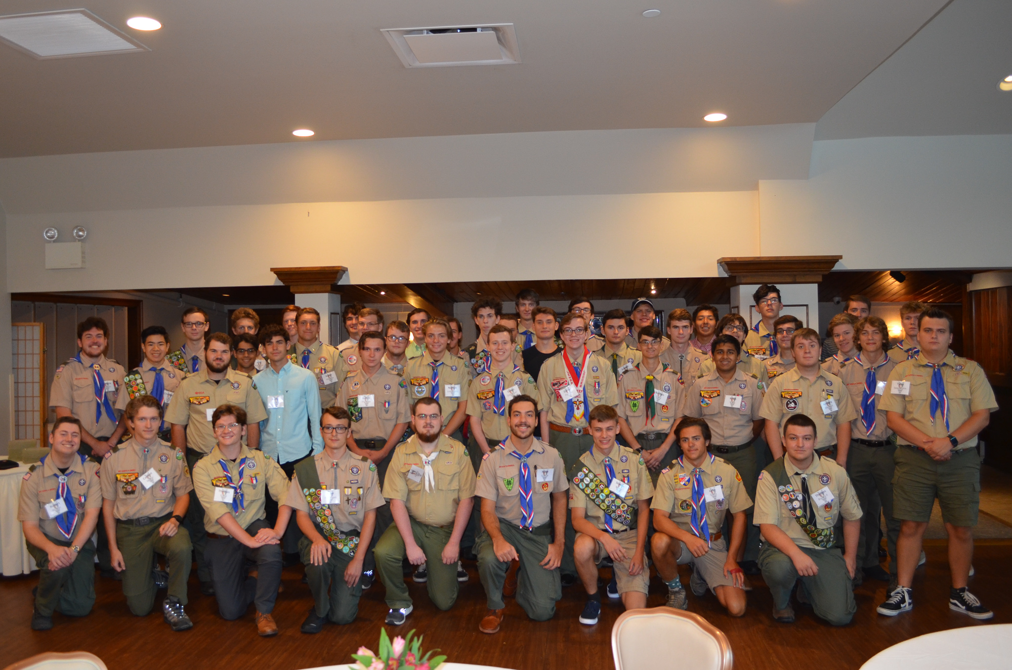 Eagle Scouts from Garden State Council, classes of 2019 and 2020 gather at a recognition dinner August 1, 2021