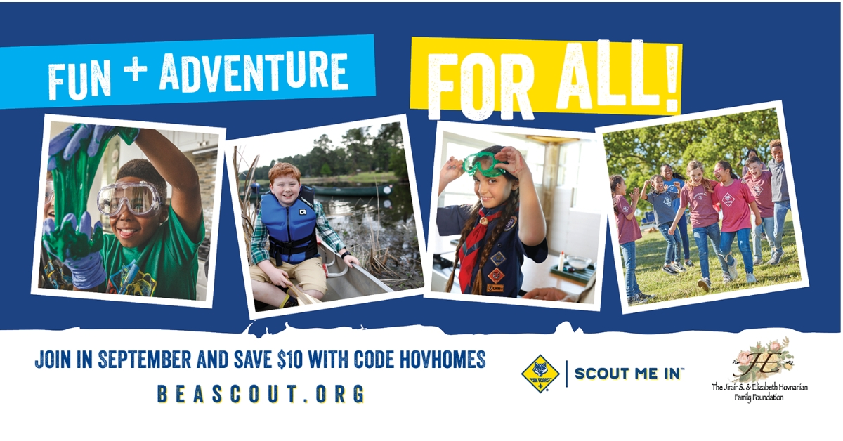 Scouting is fun and adventure for all. Join Scouting in September 2021 and save $10
