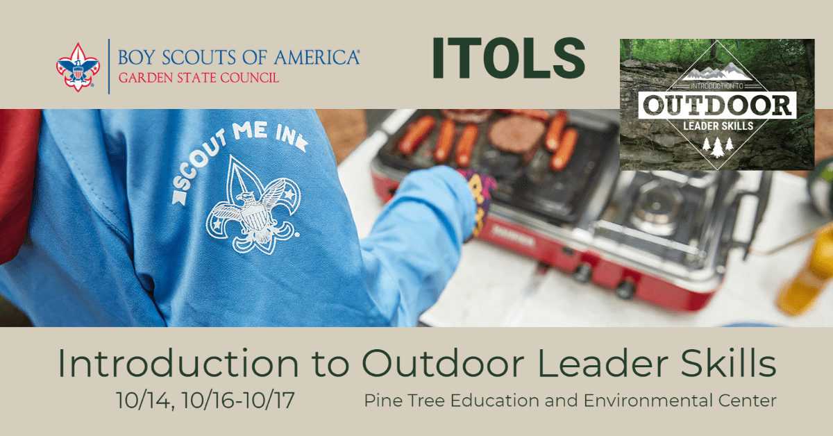 Introduction to Outdoor Leader Skills training in happening in mid-October, 2021